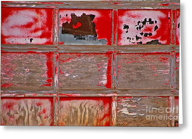 Patch Work Greeting Cards - Patch Work Door  Greeting Card by JW Hanley