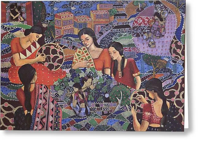 Patch Work Greeting Cards - Patch Work Greeting Card by Kajori Ghoshal