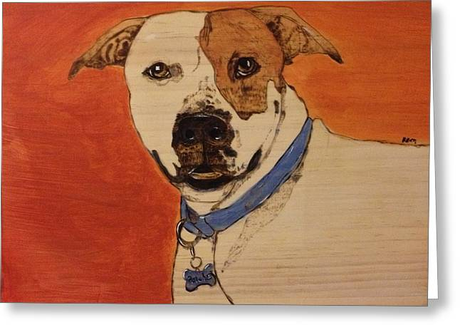 Woodburn Pyrography Greeting Cards - Patches Greeting Card by Maureen Hargrove