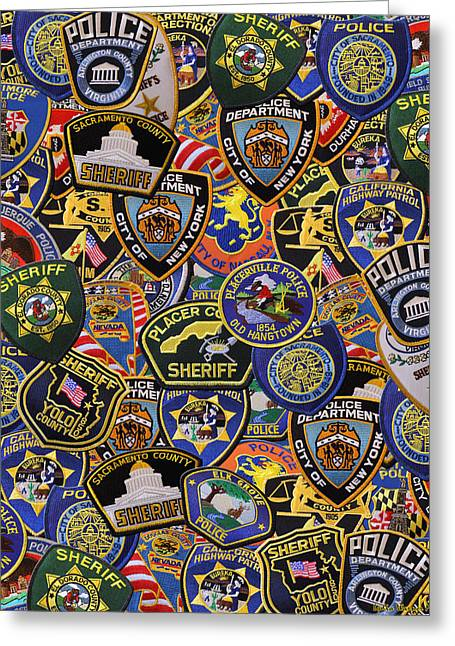 Lydia Miller Greeting Cards - Patches Of Honor Greeting Card by Lydia Warner Miller