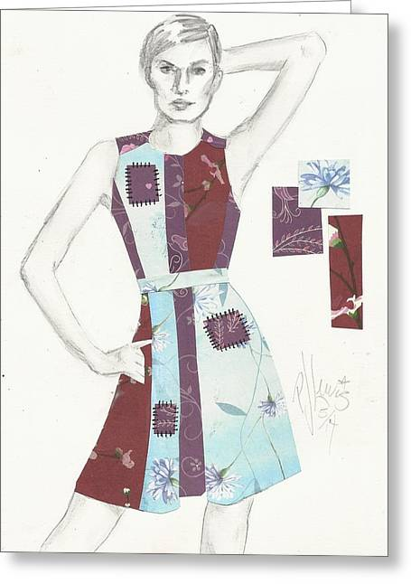 Figure Drawing Mixed Media Greeting Cards - Patches Greeting Card by P J Lewis
