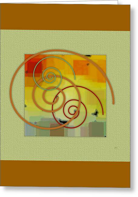 Patchwork II Greeting Card by Ben and Raisa Gertsberg