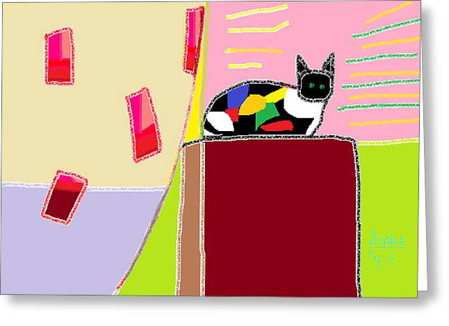 Patch Work Greeting Cards - Patchwork Sophie  Greeting Card by Anita Dale Livaditis