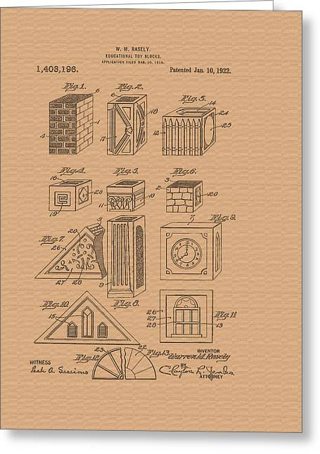 Conferring Greeting Cards - Patent for Educational Toy Blocks Greeting Card by Mountain Dreams