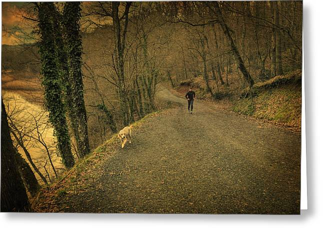Romanticism Greeting Cards - Path IV Greeting Card by Taylan Soyturk