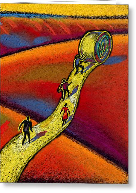 Roadway Greeting Cards - Path Greeting Card by Leon Zernitsky