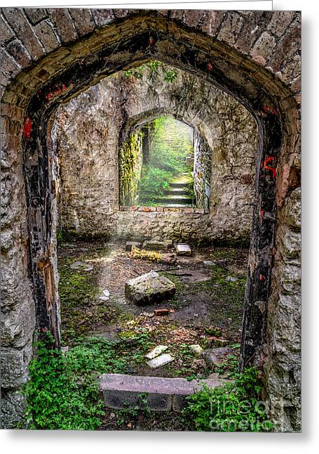 Dilapidated Digital Art Greeting Cards - Path Less Travelled Greeting Card by Adrian Evans