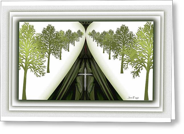Pages Of Life Digital Art Greeting Cards - Path of Life Greeting Card by Jennifer Page