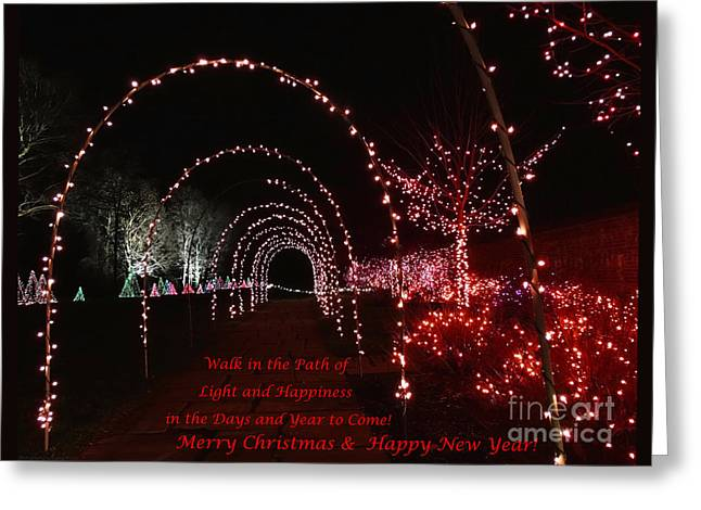 Texting Greeting Cards - Path of Lights Greeting Card by Gena Weiser