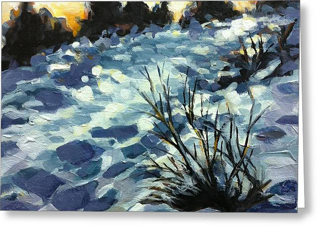 Snow Path Greeting Cards - Path of Peace Greeting Card by Mary Medrano