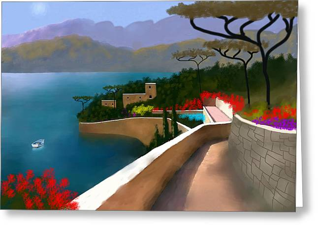 Path Of Splendors Greeting Card by Larry Cirigliano