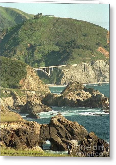 Big Sur Ca Greeting Cards - Path to Bixby Bridge Greeting Card by DJ Laughlin