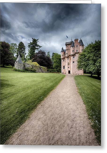 Ground Greeting Cards - Path to Craigievar Castle Greeting Card by Dave Bowman