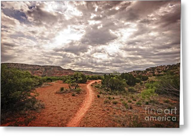 Jesus Artwork Photographs Greeting Cards - Path to Glory Greeting Card by Charles Dobbs