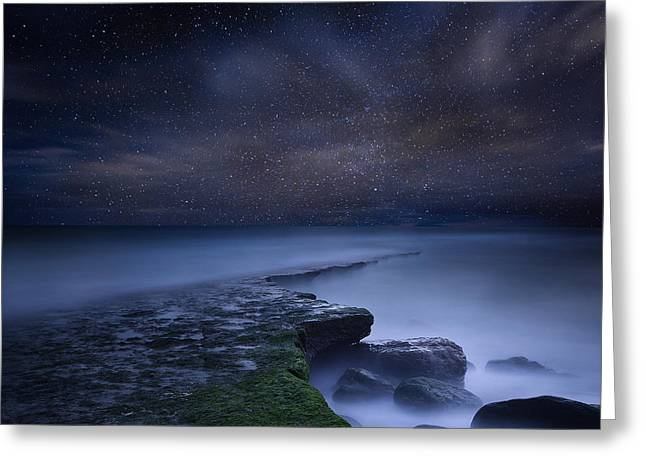 Path To Infinity Greeting Card by Jorge Maia