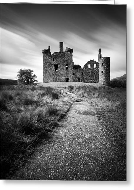 Campbell Clan Greeting Cards - Path to Kilchurn Castle Greeting Card by Dave Bowman
