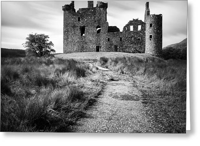 Path to Kilchurn Castle Greeting Card by Dave Bowman