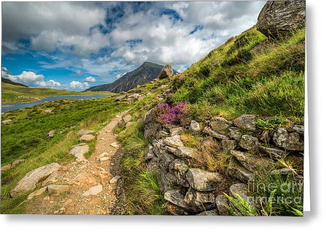 Hdr Landscape Digital Greeting Cards - Path to Lake Idwal Greeting Card by Adrian Evans