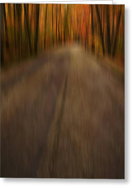 Autumn Art Greeting Cards - Path To Life Greeting Card by Lourry Legarde