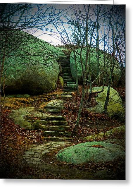 Hands To Face Greeting Cards - Path to Munchkinville Greeting Card by Marcia Lee Jones