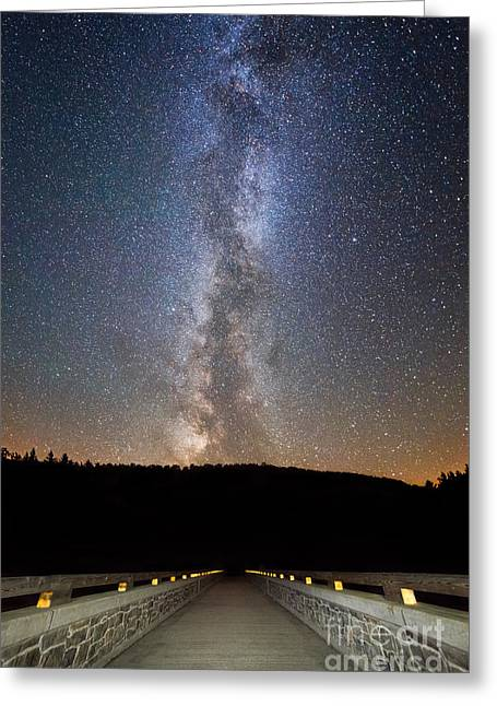 Ver Sprill Photographs Greeting Cards - Path To Our Galaxy   Greeting Card by Michael Ver Sprill
