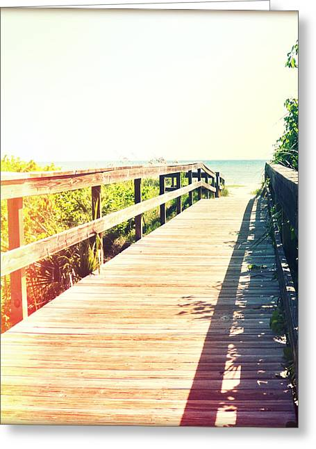 Florida Bridge Greeting Cards - Path to Paradise Photography Light Leaks1 Greeting Card by Chris Andruskiewicz