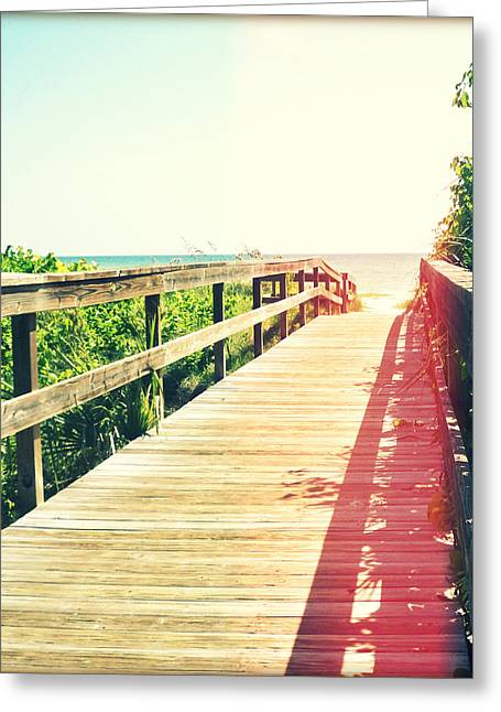 Florida Bridge Greeting Cards - Path to Paradise Photography Light Leaks2 Greeting Card by Chris Andruskiewicz