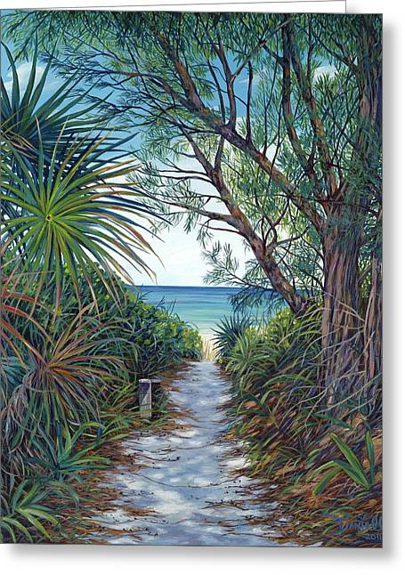 Danielle Perry Greeting Cards - Path to Serenity Greeting Card by Danielle  Perry