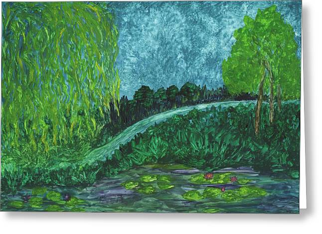 Lili Greeting Cards - Path to Serenity Greeting Card by Phyllis Brady