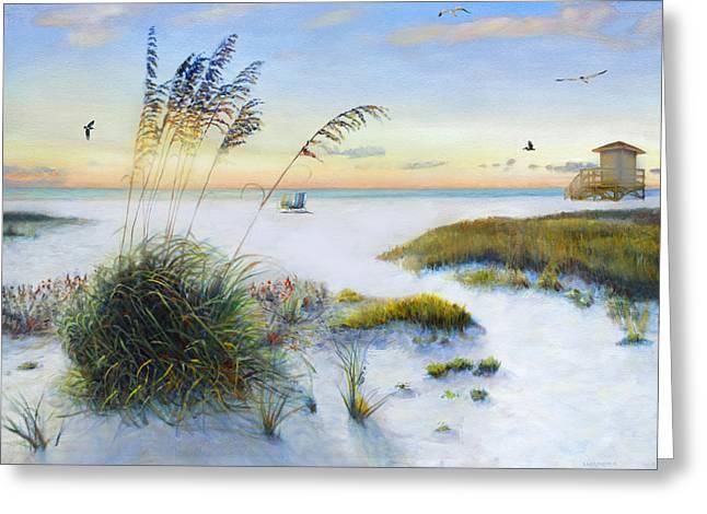 Siesta Key Greeting Cards - Path to Siesta Key Beach Greeting Card by Shawn McLoughlin