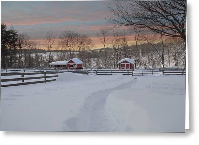Path To The Barn Greeting Card by Fran J Scott