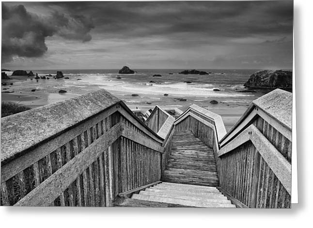 Beach Photos Photographs Greeting Cards - Path to the Beach Greeting Card by Andrew Soundarajan