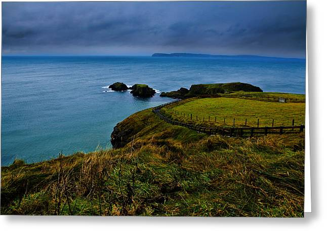 Ireland Photographs Greeting Cards - Path to the Bridge Greeting Card by Justin Albrecht