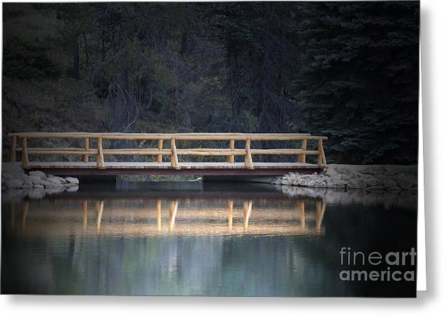 Pond In Park Greeting Cards - Path to the Cabin Greeting Card by Lynn Sprowl