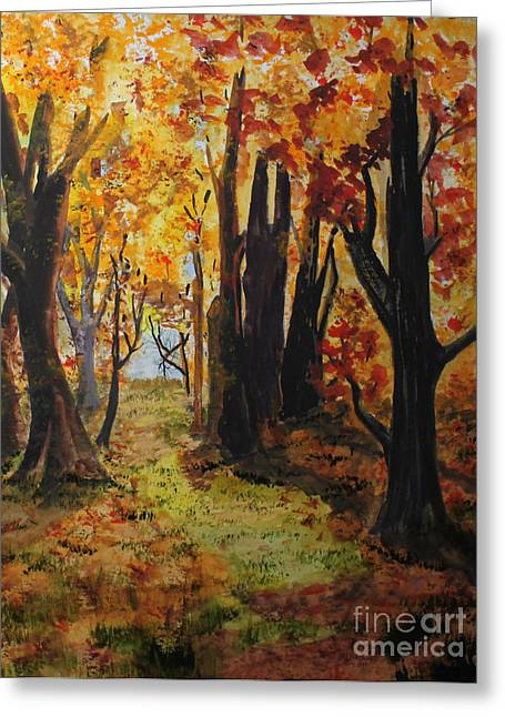 Path To The Edge Greeting Card by Jack G  Brauer