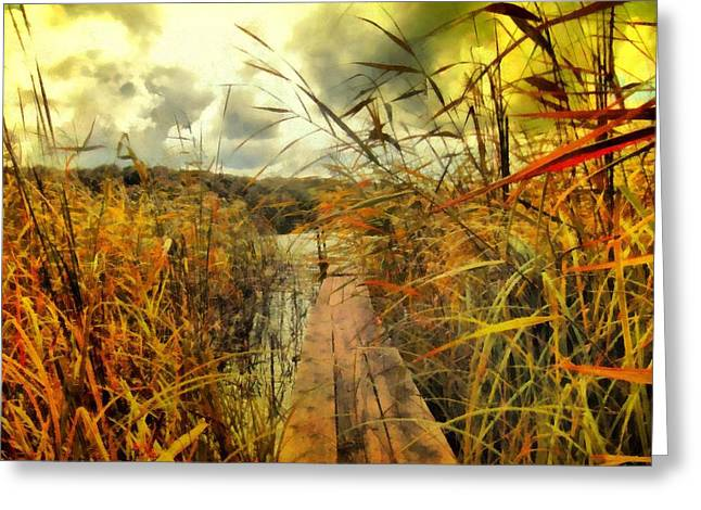 Camille Pissarro Digital Greeting Cards - Path to the Lake Greeting Card by Marina Kaehne