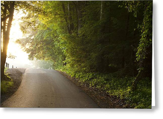 Surreal Landscape Photographs Greeting Cards - Path to the Light Greeting Card by Andrew Soundarajan