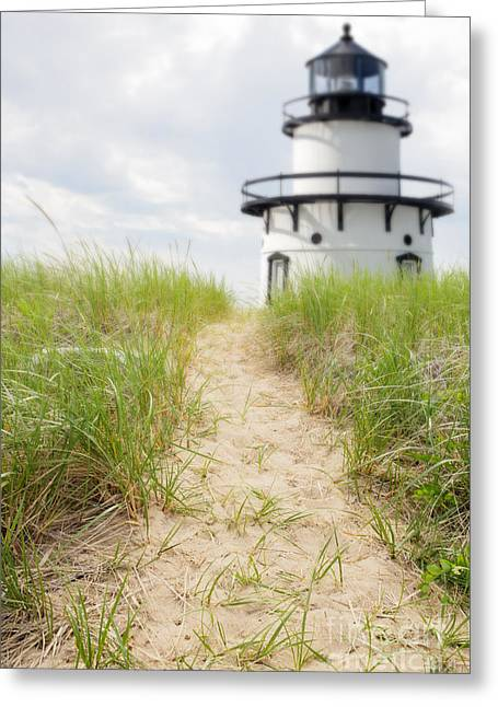 Saybrook Greeting Cards - Path to the lighthouse Greeting Card by Edward Fielding