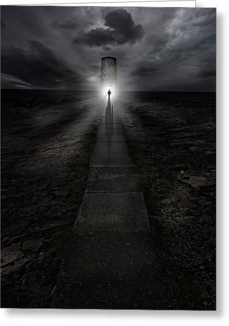 Path To The Lightouse Greeting Card by Jaroslaw Blaminsky