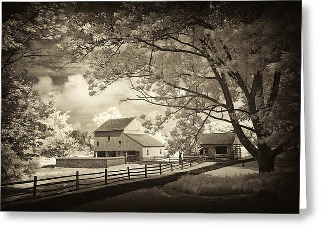 Pa Barns Greeting Cards - Path to the old barn Greeting Card by Paul W Faust -  Impressions of Light