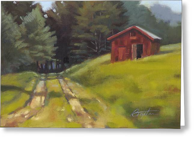 Tin Roof Paintings Greeting Cards - Path to the River Greeting Card by Todd Baxter