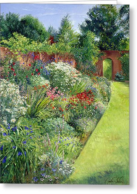 C20th Greeting Cards - Path To The Secret Garden Oil On Canvas Greeting Card by Timothy Easton