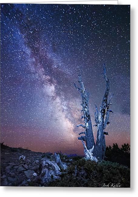 Path To The Stars Greeting Card by Josh Kulla