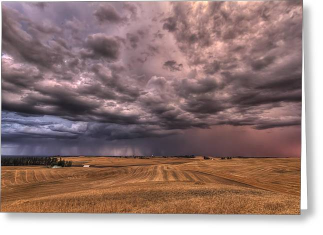 Dark Clouds. Greeting Cards - Path to the Storm Greeting Card by Mark Kiver