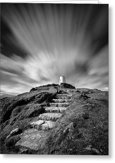 Stepping Stones Greeting Cards - Path to Twr Mawr Lighthouse Greeting Card by Dave Bowman