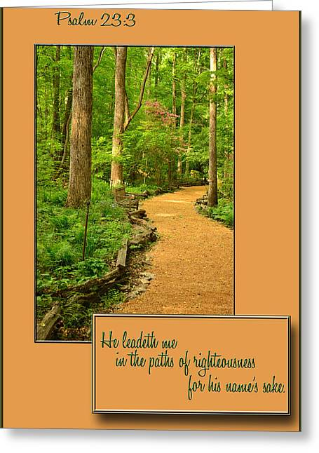 Paths Of Righteousness Greeting Card by Larry Bishop