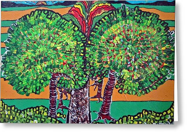 Acylic Painting Greeting Cards - Pathway Home Greeting Card by Matthew  James