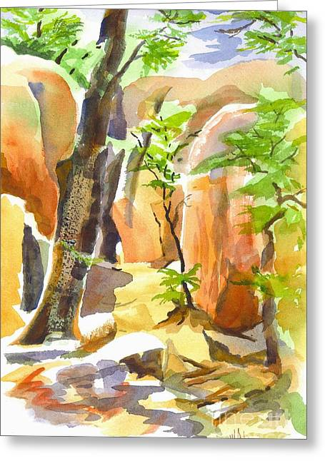 Elephant Rocks State Park Greeting Cards - Pathway II Greeting Card by Kip DeVore