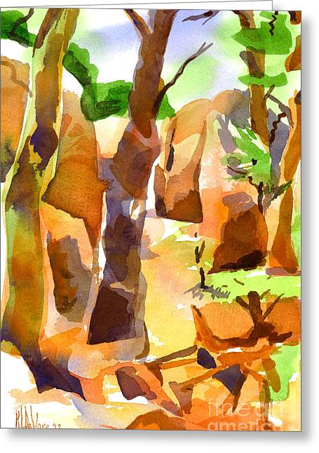 Wacky Greeting Cards - Pathway Through Elephant Rocks 1b Greeting Card by Kip DeVore