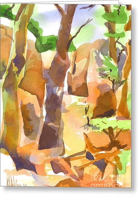 Elephant Rocks State Park Greeting Cards - Pathway Through Elephant Rocks Greeting Card by Kip DeVore